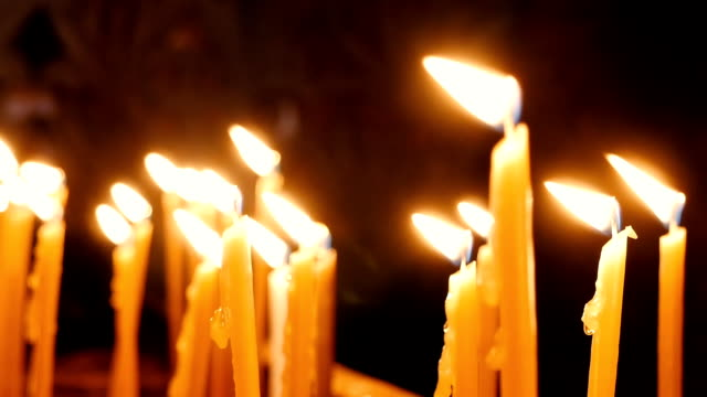 Burning candles in Holy Sepulcher Church video