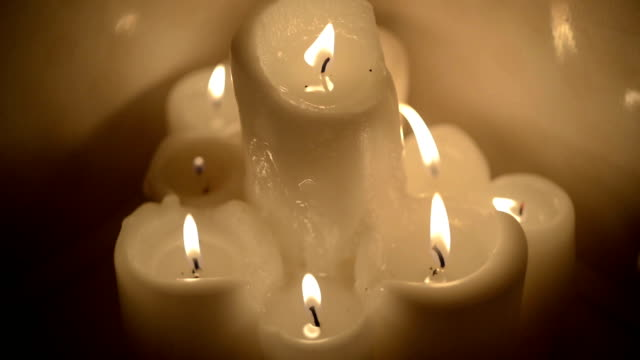 burning candles in the bathroom video
