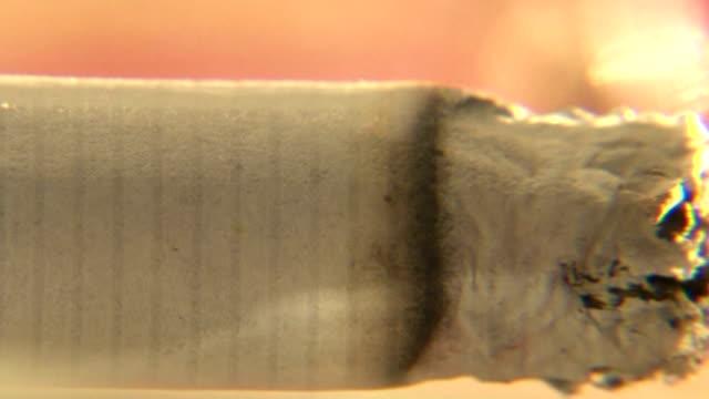 Burning cigarette video
