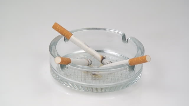 Burning cigarettes in fast speed video