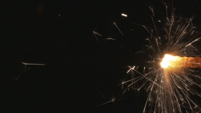 Burning Explosives Fuse closeup video