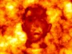 Burning face video