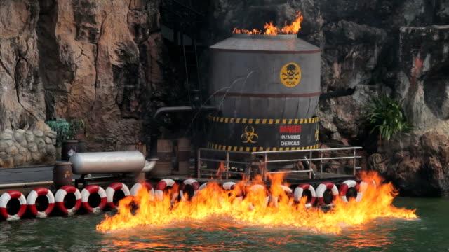 Burning factory video