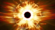 Burning fire Sauron's eye. Loop. video