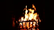 burning fireplace video