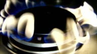 Burning gas in slowmotion video
