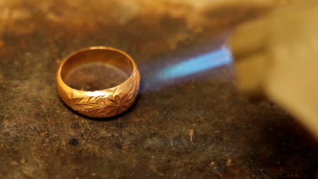 Burning gold ring video