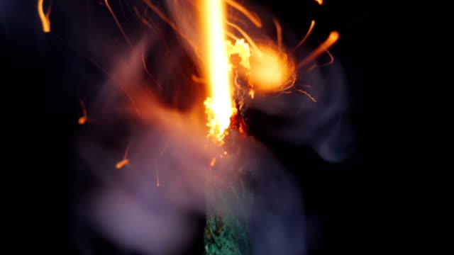 Burning green fuse. video