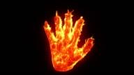 Burning hand video
