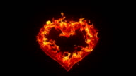 Burning heart video