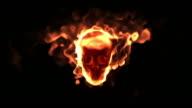 Burning Human Skull video