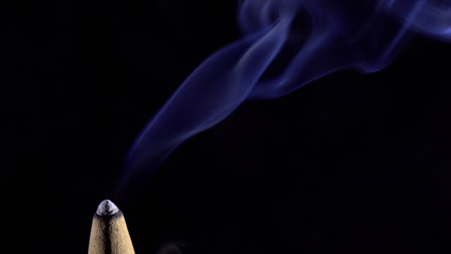 Burning incense from agarwood video
