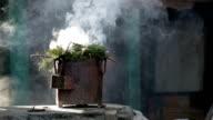 Burning incense, Nepal video