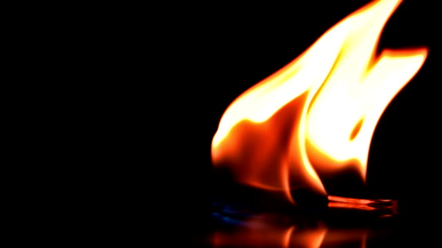 Burning match falls and ignites the combustible mixture video