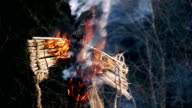 Burning of Maslenitsa Scarecrow video