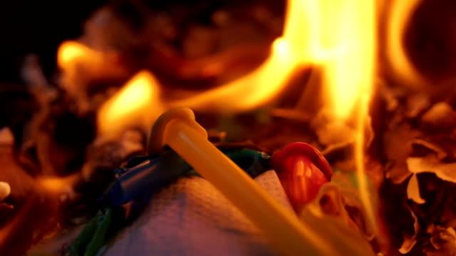 Burning Plastic Straws video