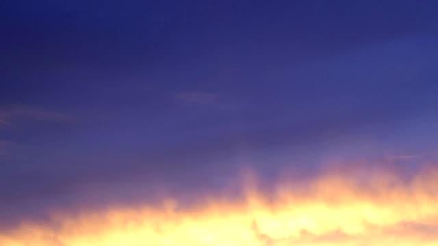 Burning Sky Sunset Timelapse video