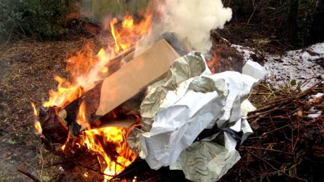 Burning The Christmas Wrapping Paper On Boxing Day video