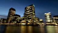 Burning the Midnight Oil at London's Financial District video