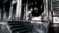 Burnt building video