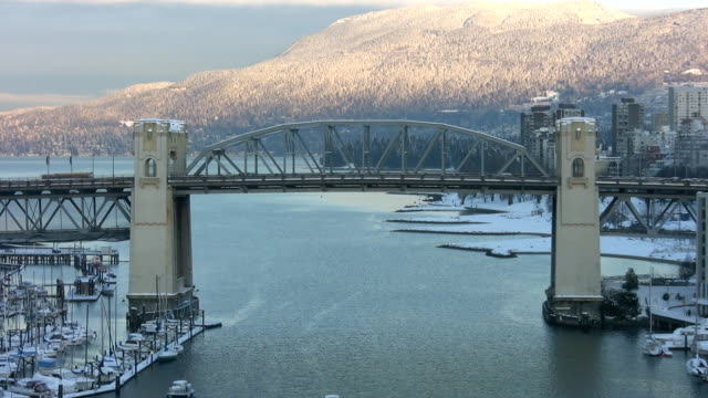 Burrard Street Bridge.  Vancouver, BC, Canada. video