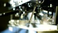 Burst of steam from coffee machine video