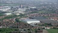 Burton Upon Trent  - Aerial View - England, Staffordshire, East Staffordshire, United Kingdom video