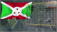Burundi flag and map animation video