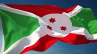 4K Burundi Flag - Loopable video