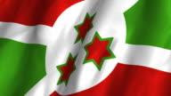 Burundi Flag - waving, looping video