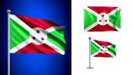Burundi flag - with Alpha channel, seamless loop! video
