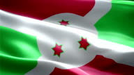 Burundi national flag. (New surge and lighting effect) video