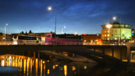 Bus bridge at night video