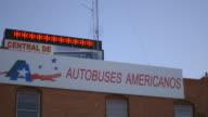 Bus Depot Near the Mexico Border video