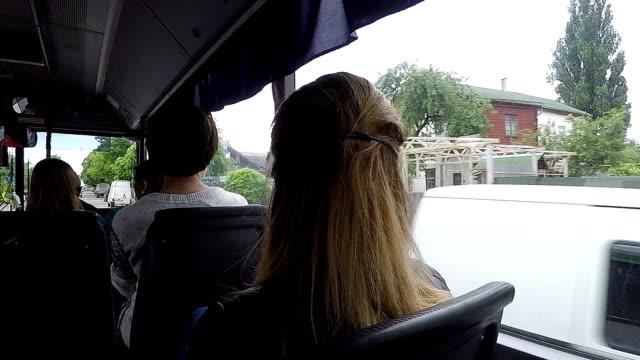 Bus rides around the city. video