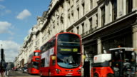 Bus Traffic In London Regent Street video