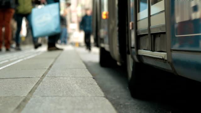 Bus & tramway station video