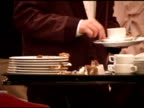 Busboy Removes Dirty Plates video