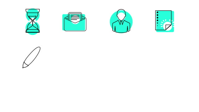 Business and Office Line Icons video