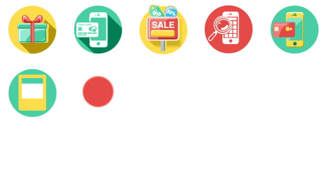 Business and Sales Flat Icons Set video