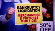 Business Bankruptcy Window Sign video