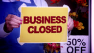 Business Closed Window Sign video