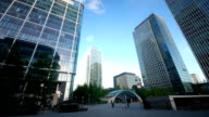 Business Commuters at Canary Wharf Underground Station in London video