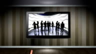 Business Concept in Monitor, Open with Hand Click video