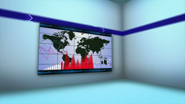 Business Concepts in Monitors and Room, 4k video