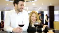 Business couple celebrating video