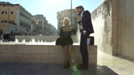 Business couple in Rome video