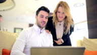 Business Couple with Laptop video