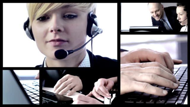 Business customer service smiling video