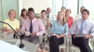 Business Delegates Listening To Presentation At Conference video